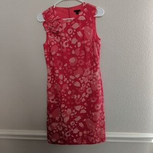 Ann Taylor Dress Floral 100% Silk Sheath Midi